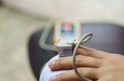 Sprzęt medyczny i tlen obraz royalty free