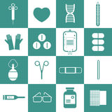 Sprzęt Medyczny ikony Ustawiać Zdjęcie Stock