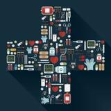 Sprzęt Medyczny ikony Ustawiać Fotografia Royalty Free