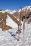 sprzęt narciarski pionowe Fotografia Stock