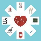 Sprzętu medycznego ikona ustawiający wektor royalty ilustracja
