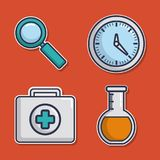 Sprzętu medycznego projekt royalty ilustracja