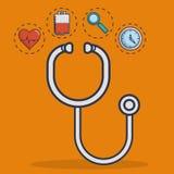 Sprzętu medycznego projekt ilustracji