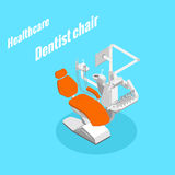 Sprzętu medycznego stomatologiczny krzesło royalty ilustracja