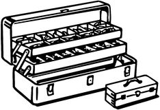 Sprzętu pudełko royalty ilustracja