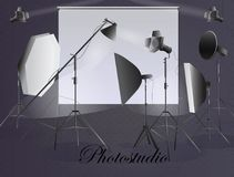 sprzęt fotograficzny Photostudio Zdjęcia Stock