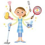 Sprzątanie i gospodyni domowa Fotografia Stock