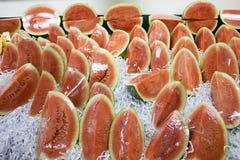 sprzedaż świezi arbuzy Fotografia Stock