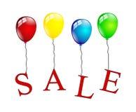 Sprzedaż balony odizolowywający Obrazy Stock