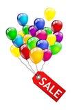 Sprzedaż balony odizolowywający Obrazy Royalty Free