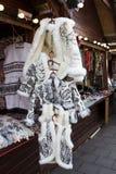 Sprzedaż biały futerkowy żakiet Zdjęcia Stock