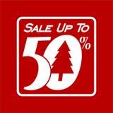 Sprzedaż Do 50%, sztandaru projekta szablon, Dyskontowa etykietka royalty ilustracja