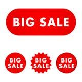 Sprzedaż duży guzik ilustracja wektor