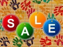 Sprzedaż dzieciaki Reprezentują młodzieniec ofertę I Save ilustracji