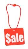 sprzedaż etykiety białe Fotografia Stock