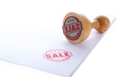 sprzedaż gumowy pieczęć Obrazy Stock