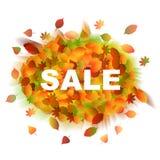 sprzedaż Jesień liście ilustracji