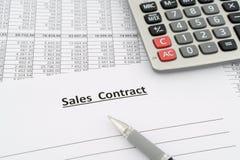 Sprzedaż kontrakt Obraz Stock