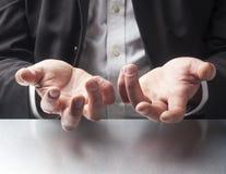 Sprzedaż mężczyzna komunikaci gesty Zdjęcie Stock