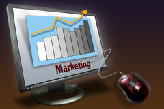 sprzedaż marketingowe przedsiębiorstw fotografia stock