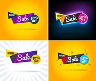 Sprzedaż oferta specjalna sztandar, w ten weekend, do ilustracji