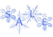 sprzedaż płatek śniegu fotografia stock