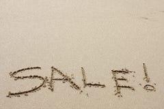 sprzedaż plażowych Obrazy Royalty Free
