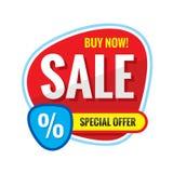 Sprzedaż - pojęcie sztandaru wektoru ilustracja Abstrakcjonistyczny kreatywnie układ Specjalnej oferty rabat projekta elementu gr ilustracji