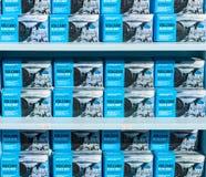 Sprzedaż powulkaniczny czerni mydło od wyspy Santorini Obraz Royalty Free