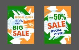 Sprzedaż projekta sztandar lub plakat Nowożytny szablon dla indianina Indepen Obraz Stock