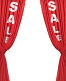 sprzedaż równiny zasłony. Zdjęcia Royalty Free