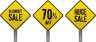 Sprzedaż ruchu drogowego znaki Fotografia Stock