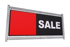 Sprzedaż sztandar Odizolowywający na bielu Zdjęcie Royalty Free