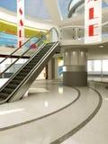 Sprzedaż sztandar w zakupy centrum handlowym Obrazy Royalty Free