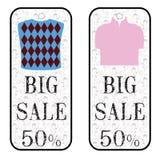 Sprzedaż sztandaru plakat Dużej sprzedaży specjalna oferta pomija 50% ilustracja wektor