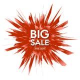 Sprzedaż sztandaru szablonu projekt wielka wyprzedaż Specjalna oferta teraz sklep ilustracja wektor
