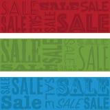 Sprzedaż sztandary Obraz Stock
