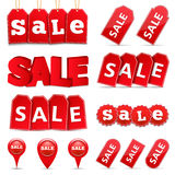 Sprzedaż sztandary i etykietki Obrazy Royalty Free