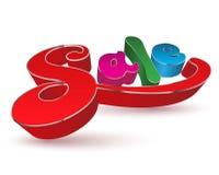 Sprzedaż teksta colours 3D ilustracji