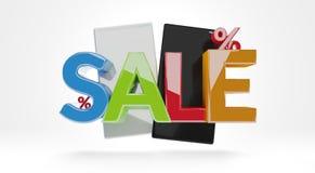 Sprzedaż telefon komórkowy 3d-illustration ilustracji