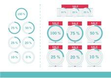 Sprzedaż Ustawiająca z procentem Ilustracji