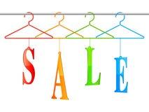 Sprzedaż wieszaki Obrazy Stock
