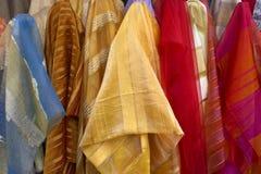 sprzedaż wyrobów włókienniczych Zdjęcie Stock