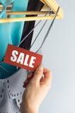 Sprzedaż z ręką zdjęcia stock