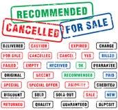 sprzedaż znaczków gumowych Obrazy Stock