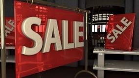 Sprzedaże na handlarskiej podłoga Fotografia Stock