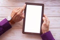 Sprzedaże przewidywać na cyfrowej pastylce Zdjęcie Royalty Free