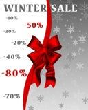 sprzedaże tła sprzedaży teksta wektoru zima Obraz Stock