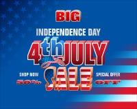 Sprzedaże w Stany Zjednoczone na dniu niepodległości Zdjęcie Stock