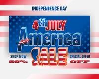 Sprzedaże w Stany Zjednoczone na dniu niepodległości Zdjęcie Royalty Free